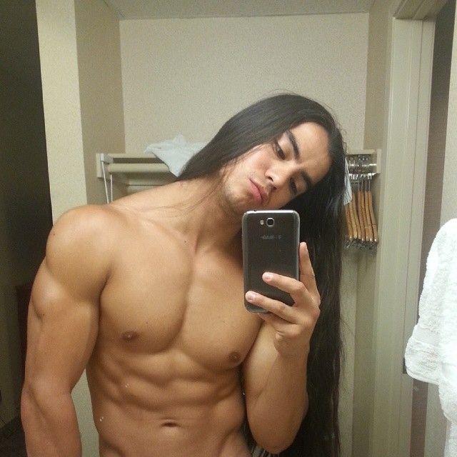 Leon Garcia Acoma And Navajo Native American Men Long Hair