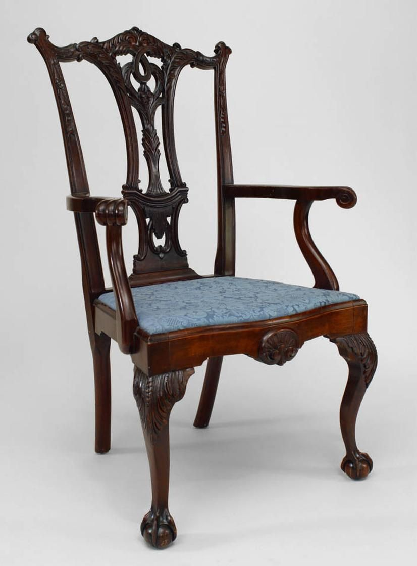 English Chippendale Seating Chair Set Mahogany Chippendale  # Muebles Ebenezer