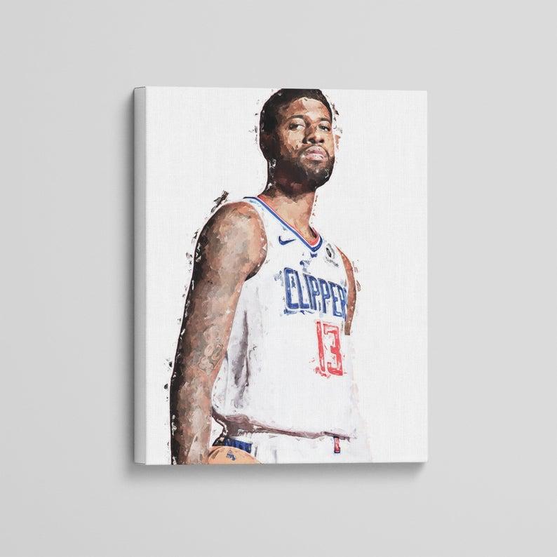 Paul George Leinwand Los Angeles Clippers Kunstdruck Modern Sport Basketball Malerei Fotografie Dekor Geschenk Wandkunst Isoprints