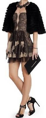 "$448 New BCBG Max Azria ""Norelle"" Black Lace Party Cocktail Gown Dress 6 | eBay"