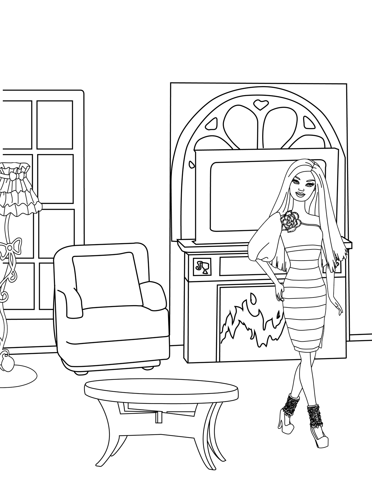 Customizable Barbie Coloring Page Check out see.walmart