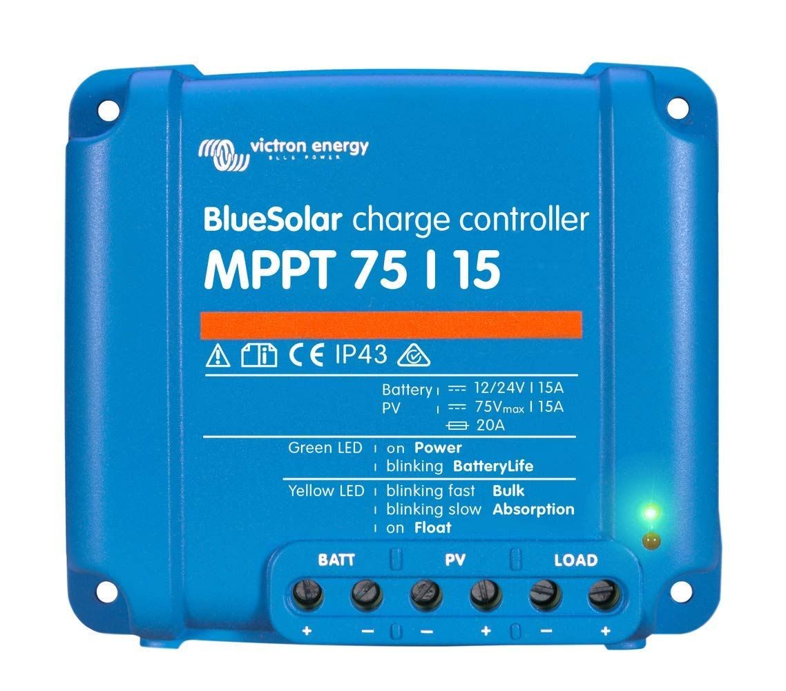 Victron Bluesolar 75 15 Mppt Charge Controller 15 Amps 75 Volts Continue To The Product At The Image Link This Is An Affi In 2020 Solar Solar Generator Energy