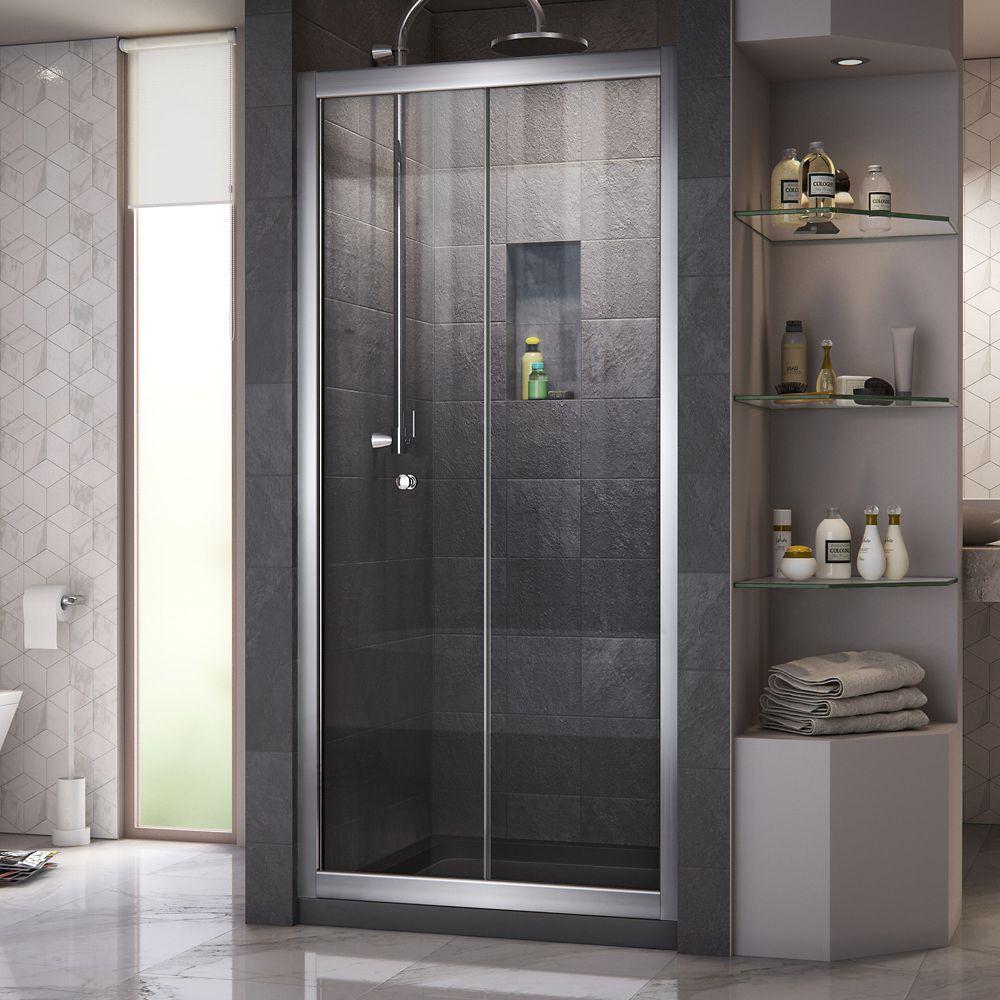 Butterfly 30 Inch To 31 1 2 Inch X 72 Inch Framed Bi Fold Shower Door In Chrome Bifold Shower Door Shower Doors Framed Shower Door