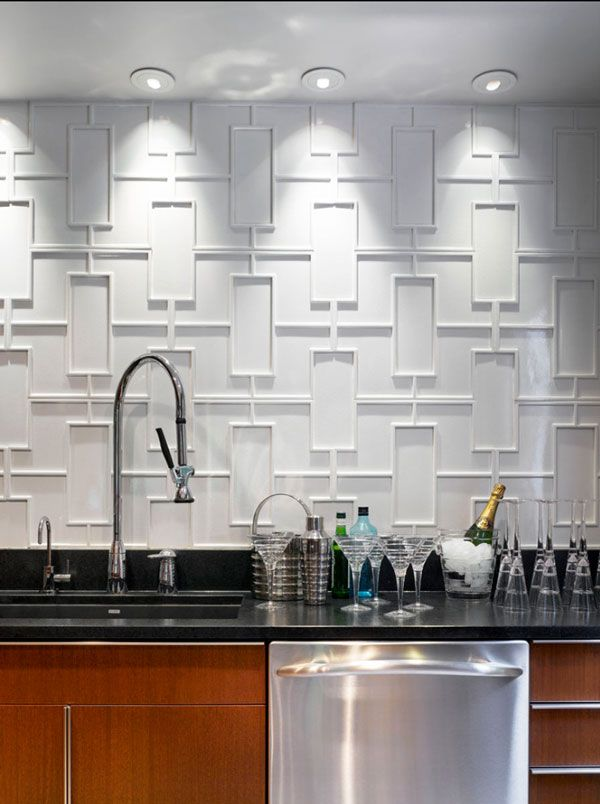 This Would Get Too Messy Behind The Faucet But A Great Idea For Another Kitchen Wall