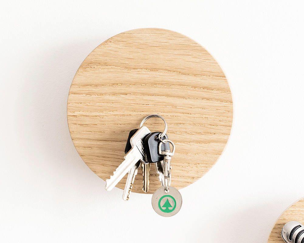 Magnetic key holder - wall hook - key rack - wood key holder - wall ...