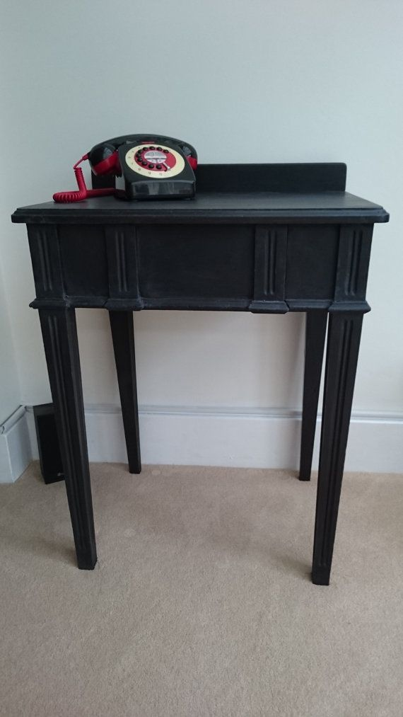 Black Art Deco Style Telephone Table Occasional Table Hallway