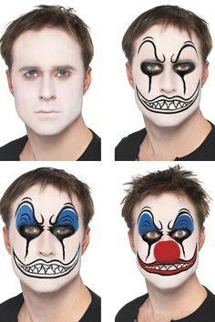 💛DIY Halloween Makeup for Men👨🎃👻 halloweentip