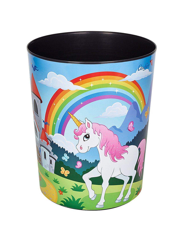 Unicorn Papierkorb Einhorn Kinderzimmer Einhorn