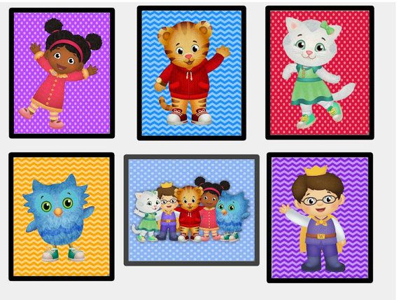 Daniel Tiger Wall Art Printables Including New Character Jodi