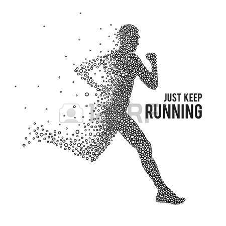 Running Man The Silhouette On A White Background Vector Running Tattoo Running Logo Running Illustration