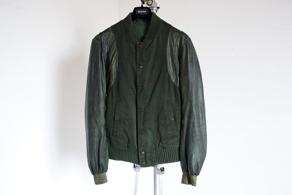 Balmain Decarnin Leather Varisty Size M $2800 - Grailed