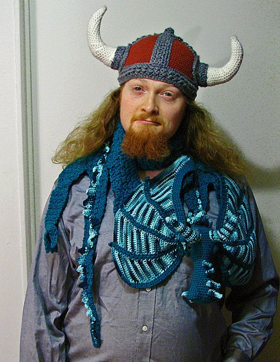 Viking Hat Crochet Pattern by MyntKat on Etsy | Crochet Hats ...