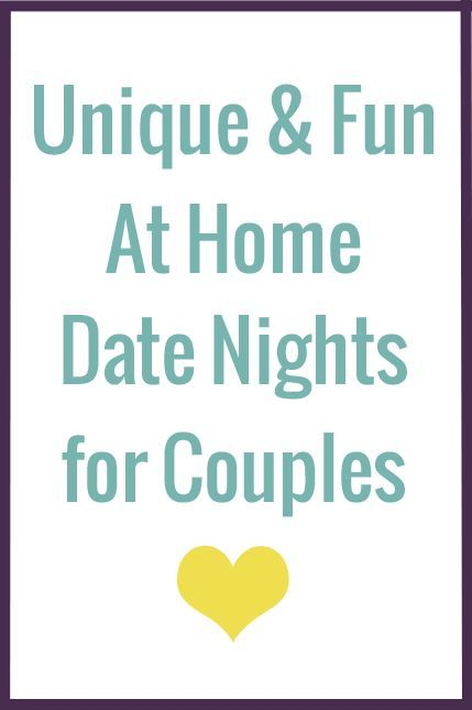 sometimes date night is easier at home