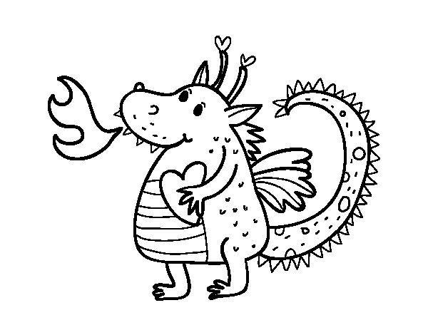 Dibujo de Dragón infantil para Colorear | SANT JORDI | Pinterest ...