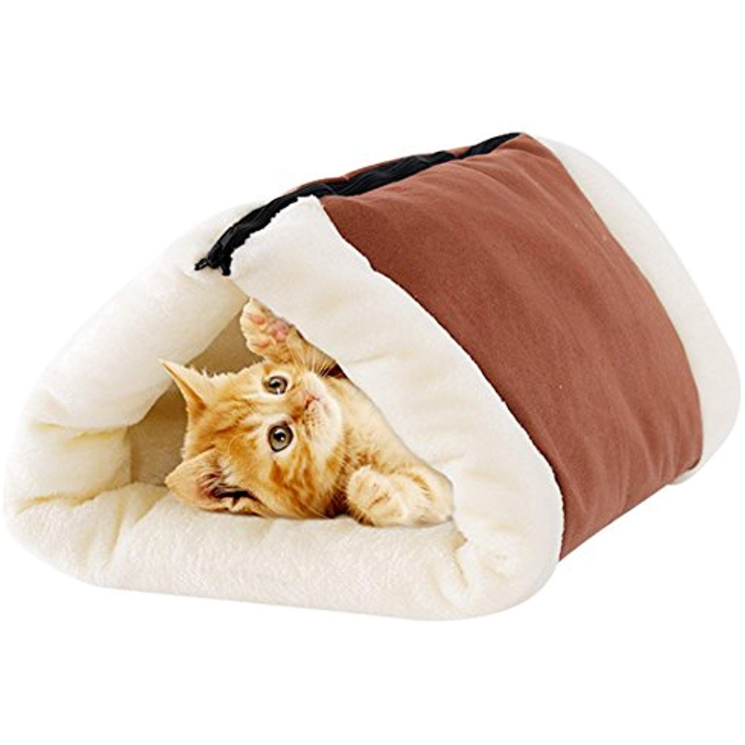 2 In 1 Cat Pet Bed Mw Tunnel Fleece Tube Indoor Cushion Mat Pyramid Pad For Dog Puppy Kitten Kitty Kennel Crate Cage Shack House Pet Beds Cat Dog Pads Cat Bed