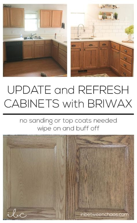 Update and Refresh Cabinets with Briwax   inbetweenchaos ...