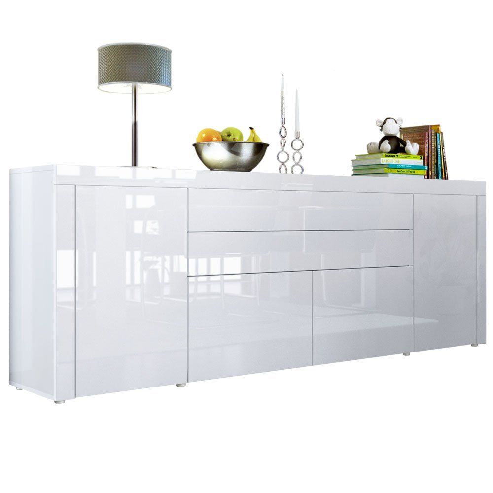 Sideboard Chest Of Drawers La Paz V2 In White White White Amazon Co Uk Kitchen Home Buffet Blanc Buffet Meuble Buffet Blanc Laque
