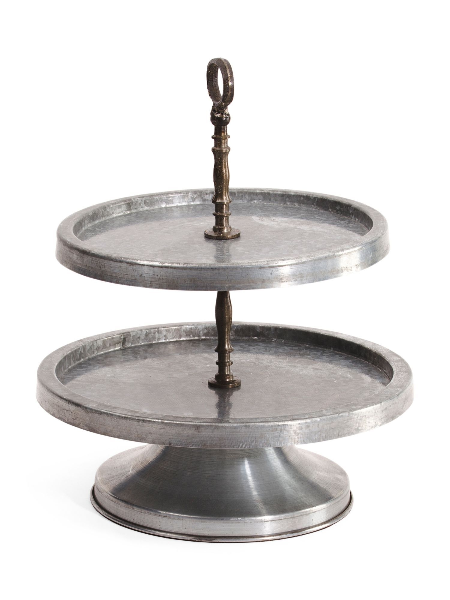Made In India Metal 2 Tier Tray On Stand   Products   Pinterest