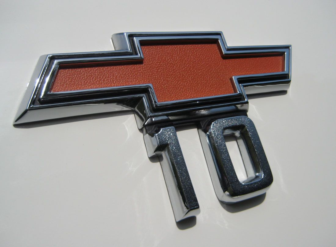 10 Emblem From A 1968 Chevrolet C10 Pickup Chevy C10 Classic