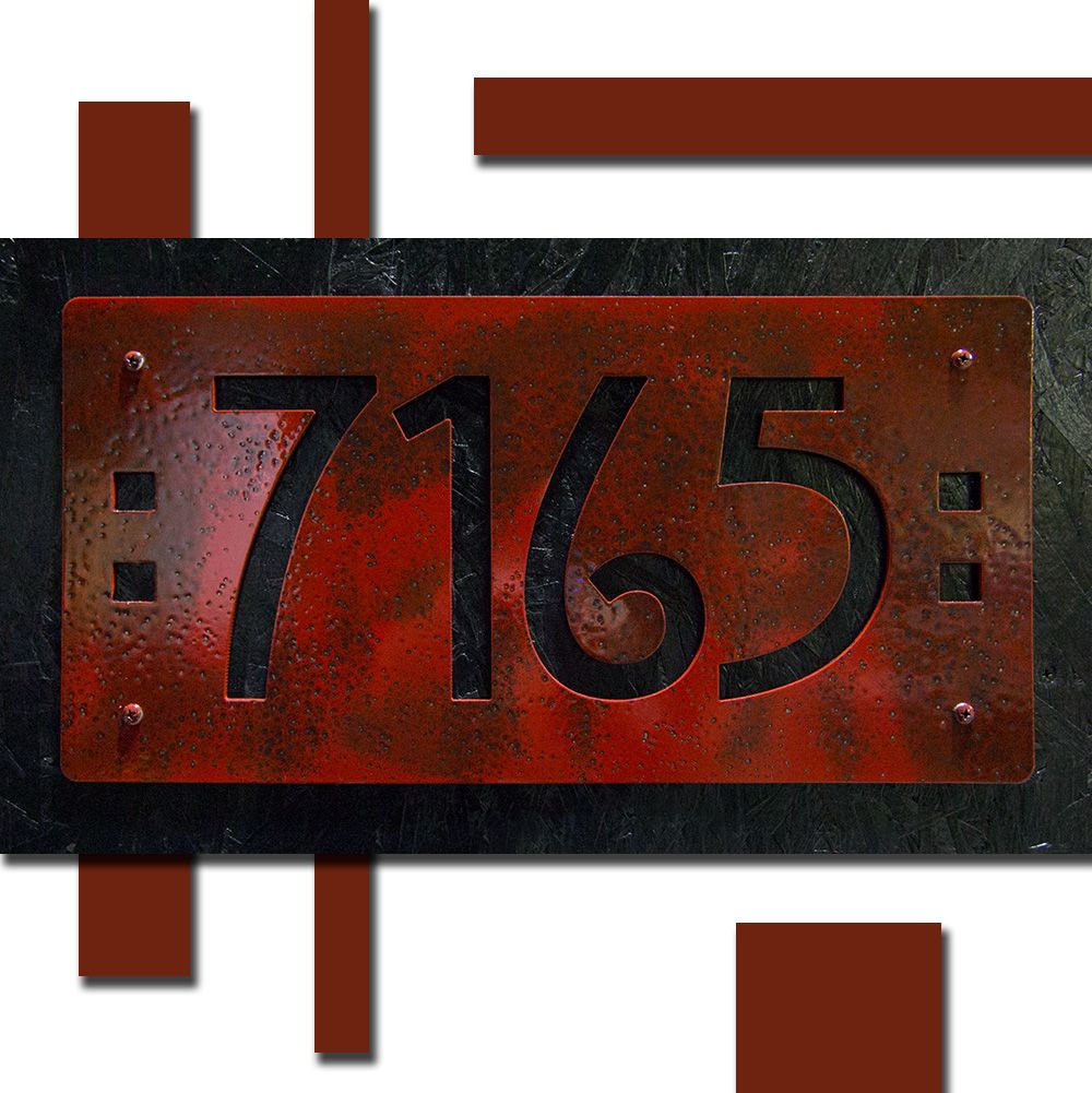Custom Mission Style House Numbers In Aluminum Mission Style Craftsman Style Porch House Numbers
