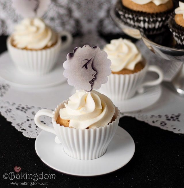 Our Blog Recipes Dimakusi Black Tea Cupcakes with Honey-Lemon Buttercream