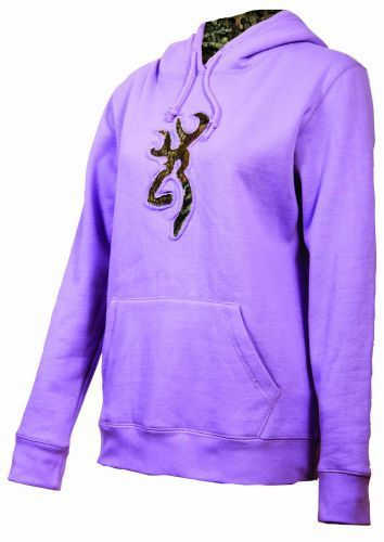 Browning Womens Buckmark Camo Hooded Hoodie Sweatshirt BRI7356 LILAC | eBay