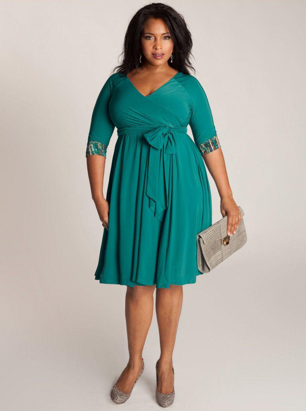 My favorite wrap dress! The Jaqueline 2-in-1 Dress in Jade by IGIGI ...