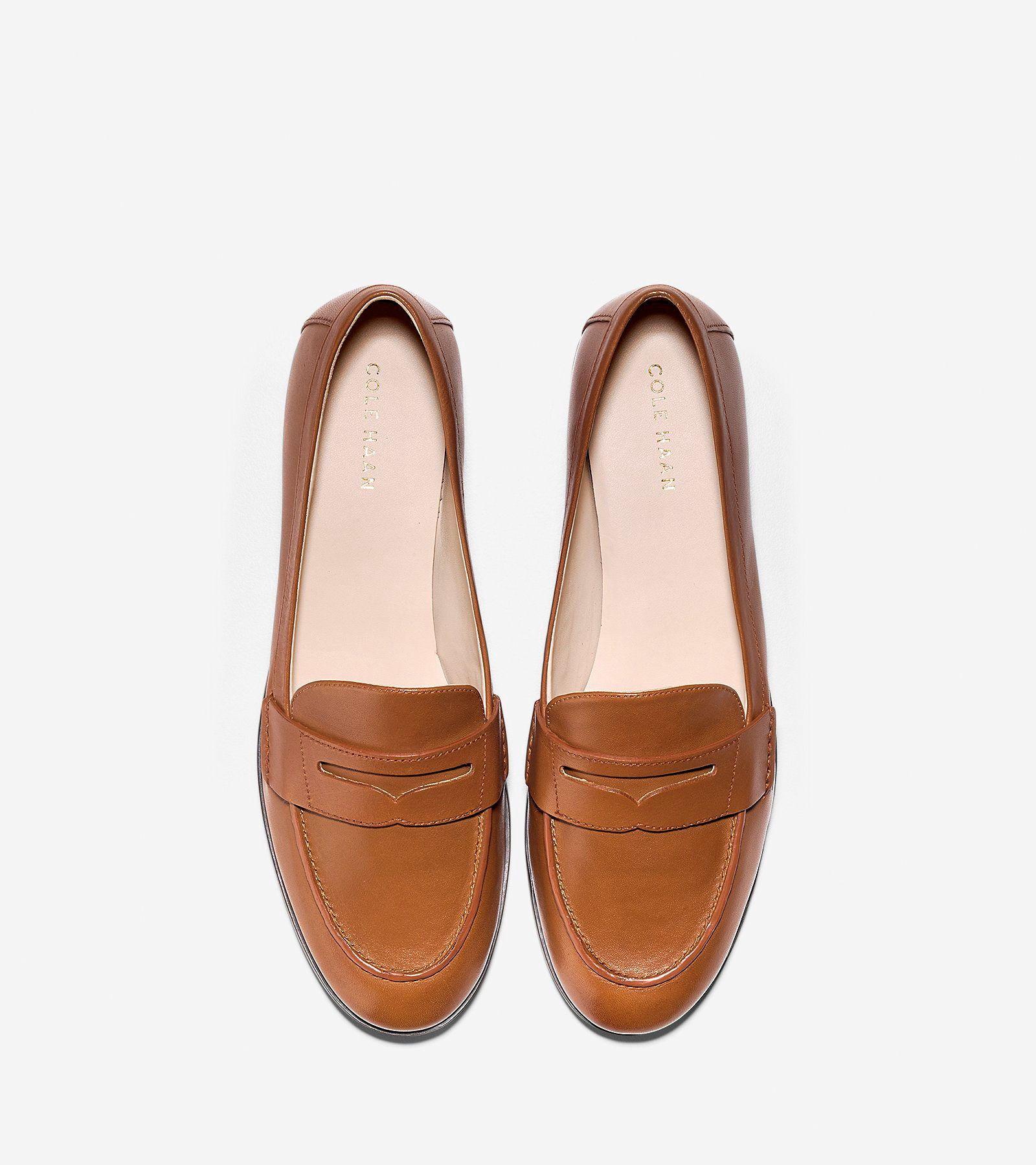 06fea2ed760 Cole Haan Women's Pinch Grand Penny Loafer - British Tan 8 B Medium ...