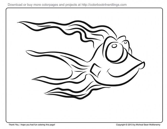 I made a fun fish to color in.  Maybe you can color it in and cut it out and stick on a wall or something.  Hope you like it!