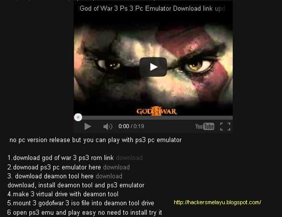 how to make god of war 3 play on pc (gods of war 3) (god of