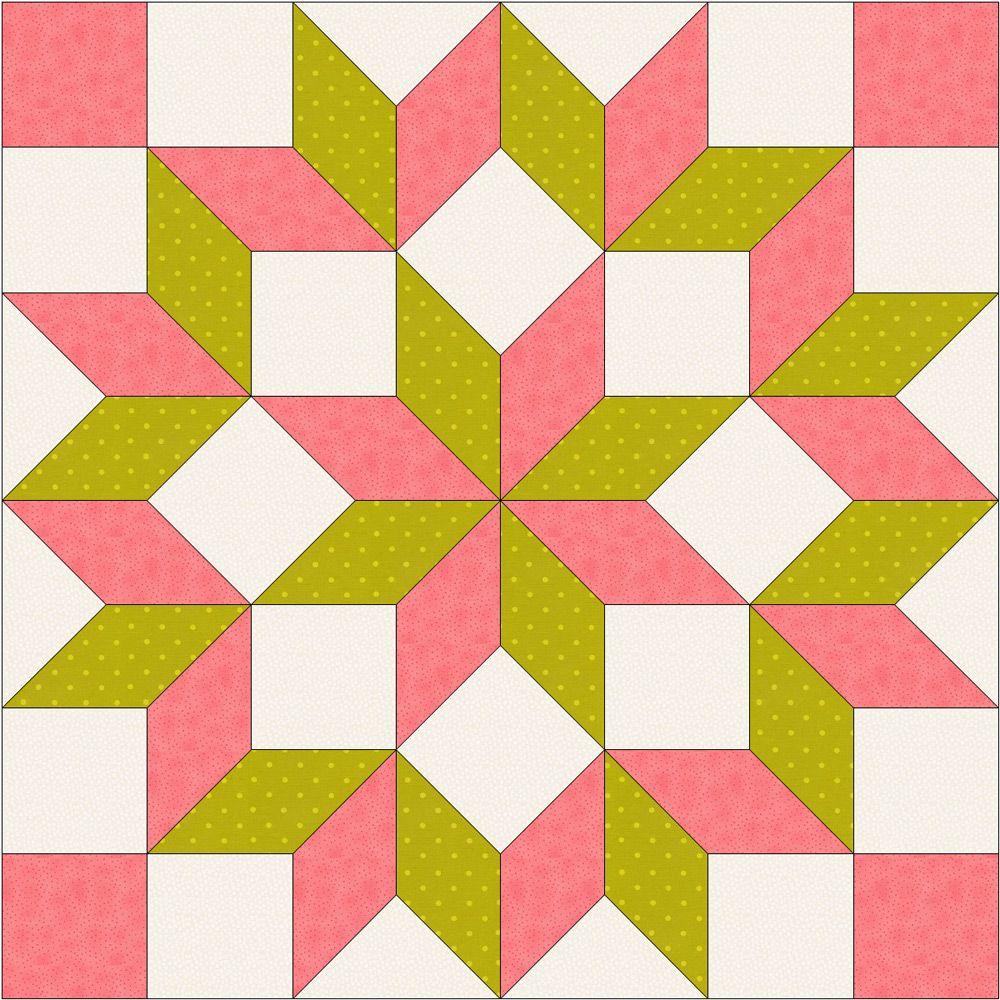 How to draft a LeMoyne Star | Star quilt blocks, Star quilts and Star : diamond quilt block pattern - Adamdwight.com