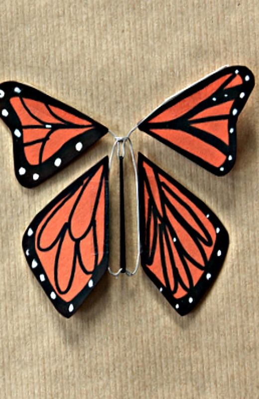 How To Make A Wind-up Paper Butterfly- Pretty Darn Cute