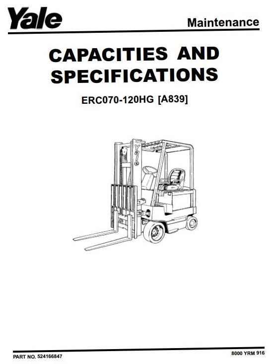 Yale electric forklift truck type a839 erc070hg erc080hg erc100hg original factory manuals for yale forklift trucks contains high quality images circuit diagrams and instructions to help you to operate swarovskicordoba Choice Image