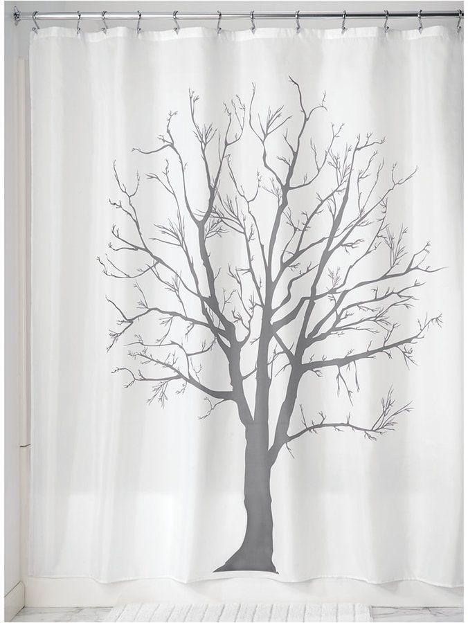 Interdesign Botanical Tree 72 X 72 Shower Curtain Bedding With