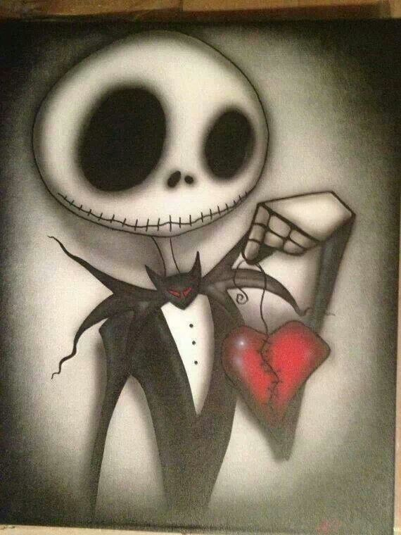 Jack And Heart Nightmare Before Christmas Tim Burton Art Jack Skellington