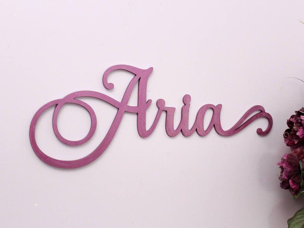Nursery Wall Letters, Nursery Decor, Wood Letters, Nursery Name Sign