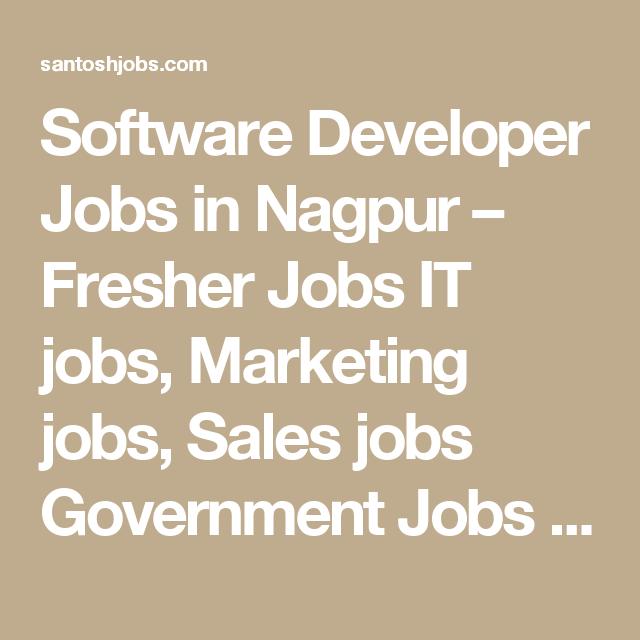 Software Developer Jobs In Nagpur  Fresher Jobs It Jobs