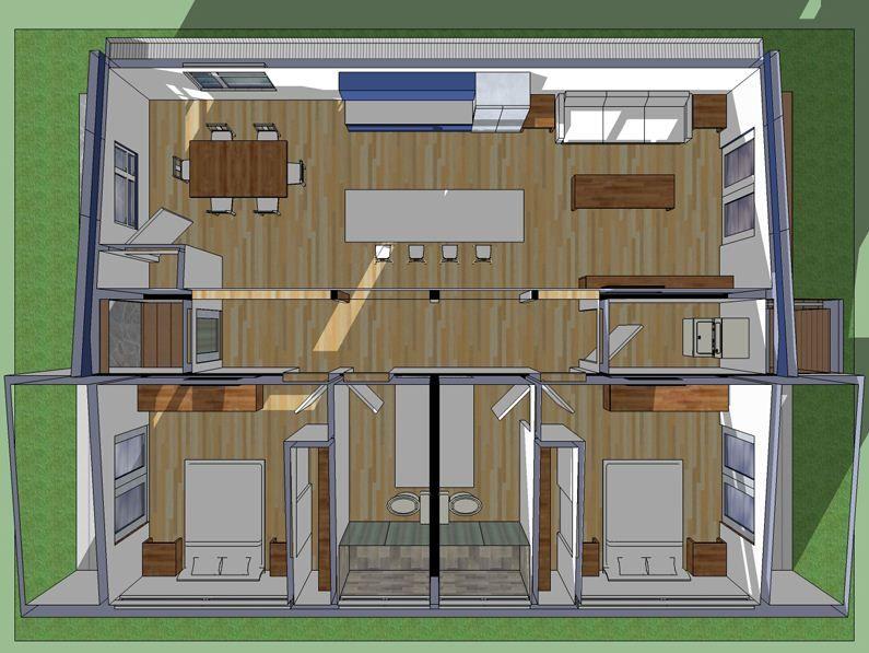 Good Plano De Casa Moderna De 90 M2 | Planos De Casas Modernas · Building  PlansHouse ...