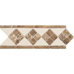 Daltile Fashion Accents 4 X 12 Fa52 Tile And Travertine Liner 0135 Almond Noce Dal Tile Decorative Border Liner Tile Daltile Decorative Tile Olean