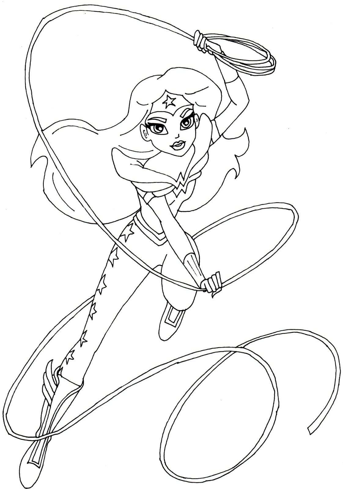 Free printable super hero high coloring page for Wonder ...