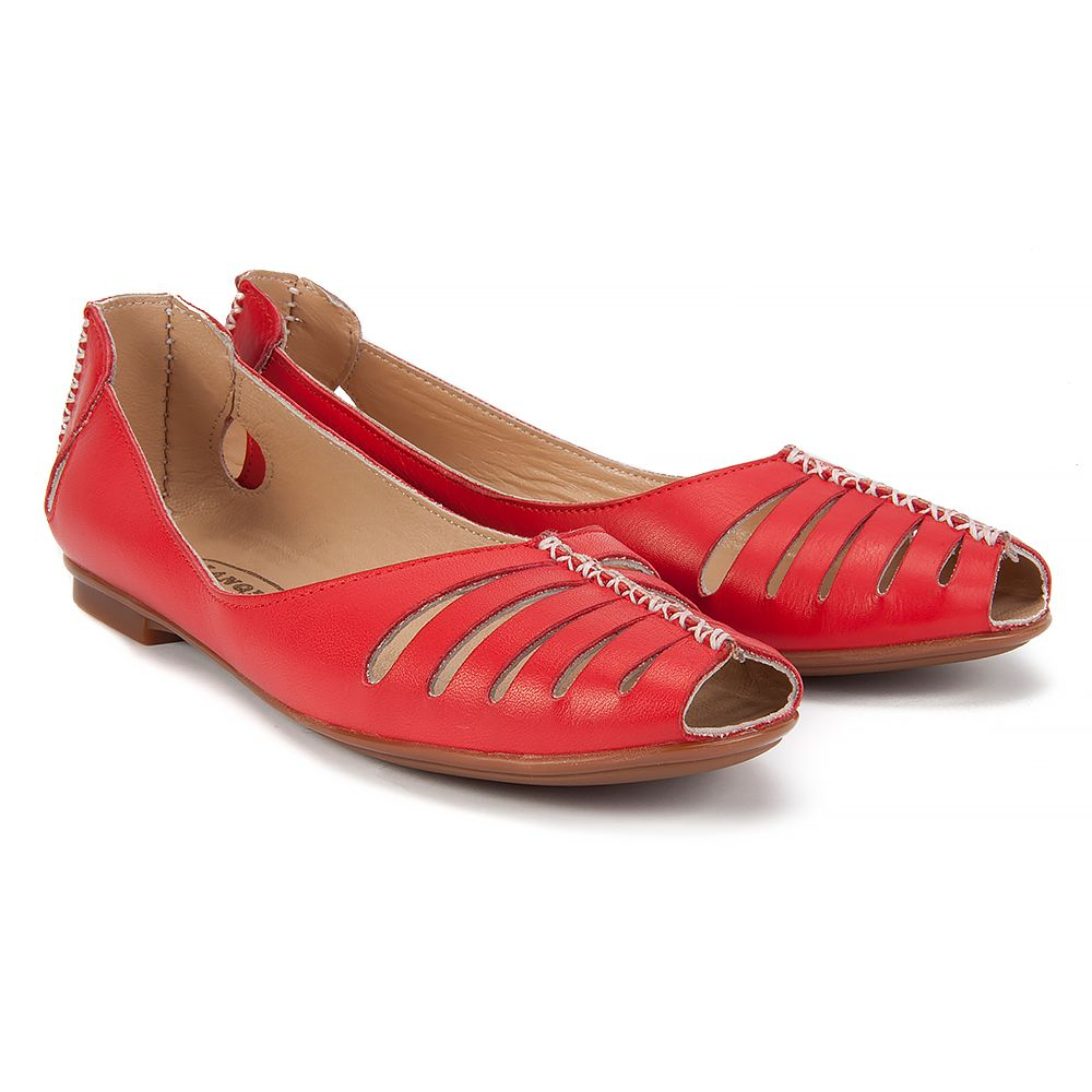 Baleriny Lanqier 38c1149 Czerwone Baleriny Buty Damskie Filippo Pl Shoes Fisherman Sandal Sandals