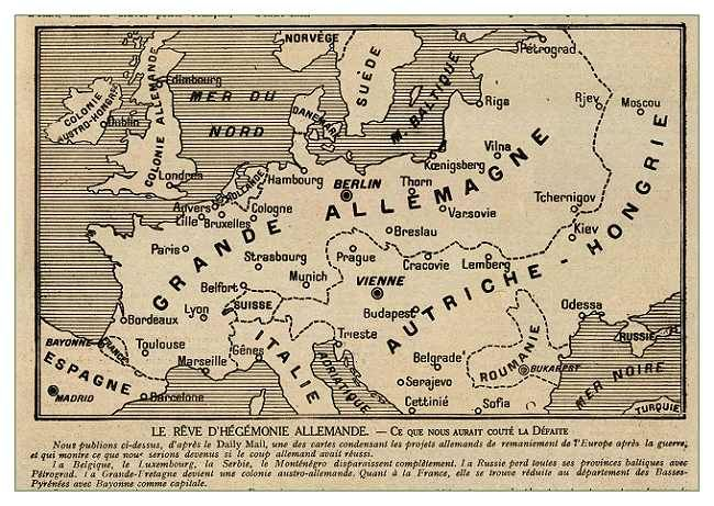 9 - Germany wins World War I(French worst case scenario) Wwi - fresh germany map after world war 1