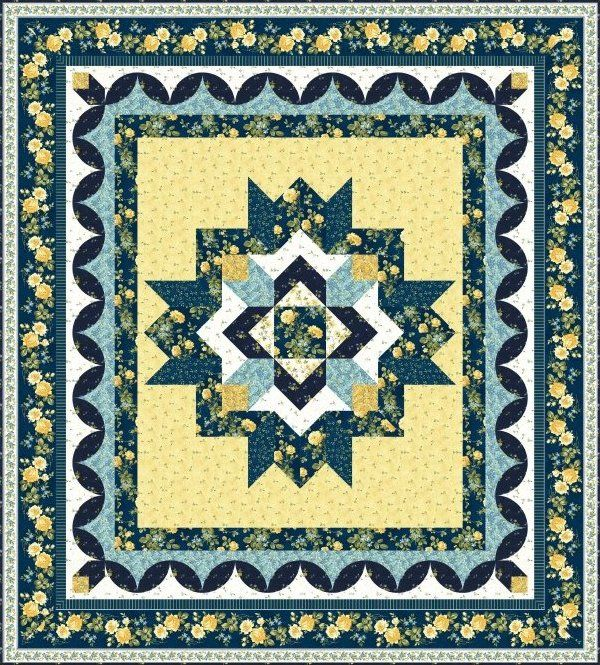 Peaceful Beauty Quilt Pattern by jan Douglas Designs | Amazing ... : medallion quilt pattern - Adamdwight.com