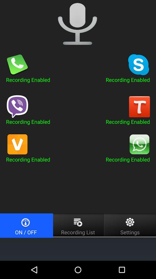 برنامج مسجل المكالمات للواتس اب والفايبر   Android apps ...
