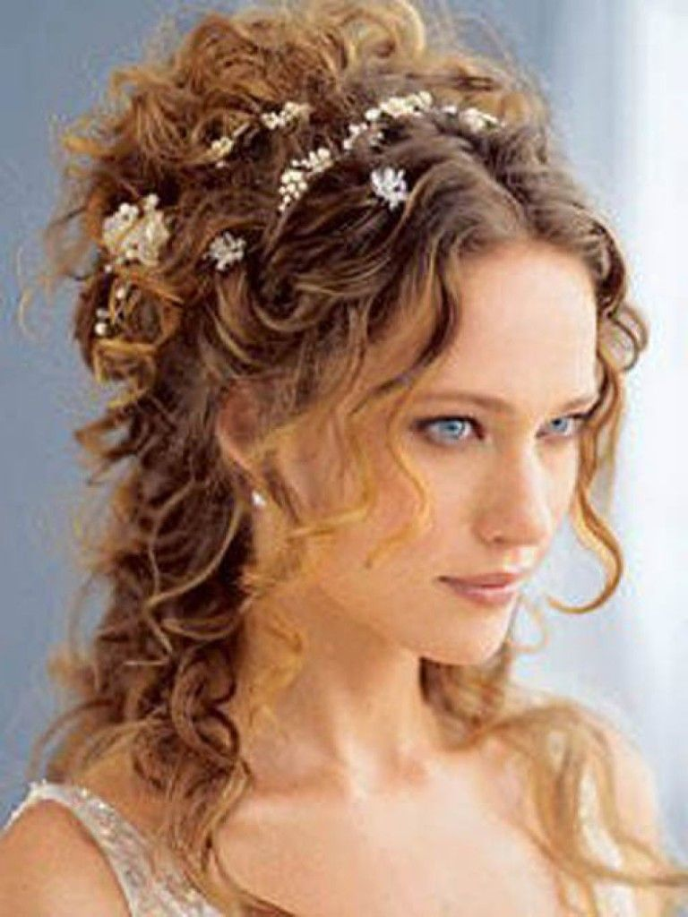 wedding thick curly hair | wedding hairstyles for long hair