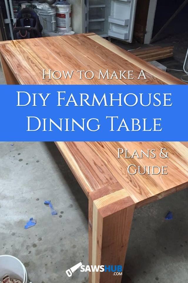 how to build a diy farmhouse dining room table the