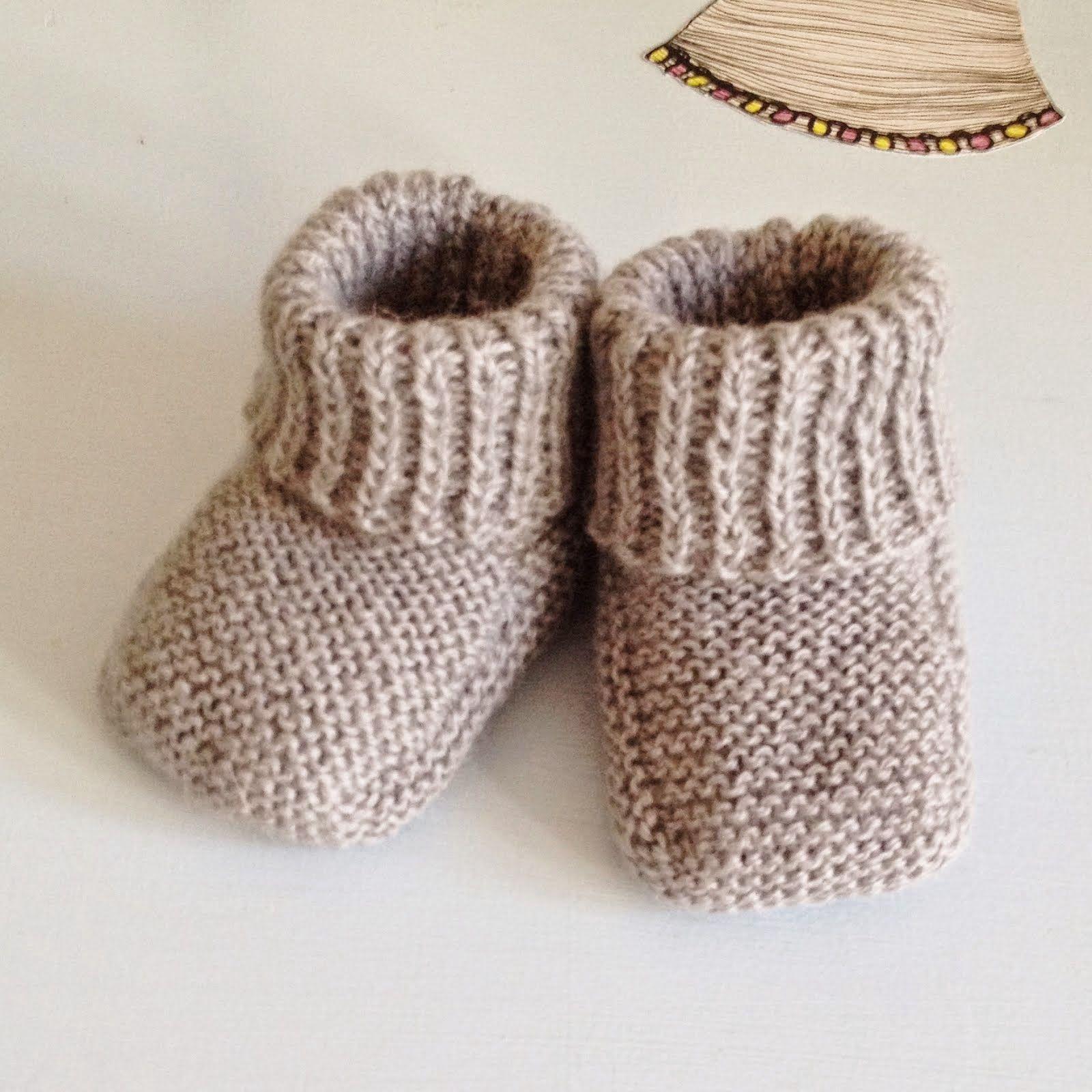 strikket babysko opskrift