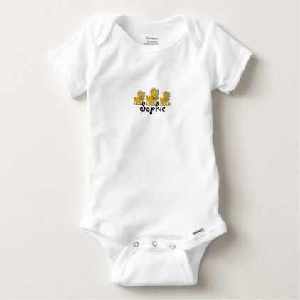 Retro easter ducks personnalised baby onesie retro easter ducks personnalised baby onesie newborn baby gift idea diy cyo personalize family negle Choice Image