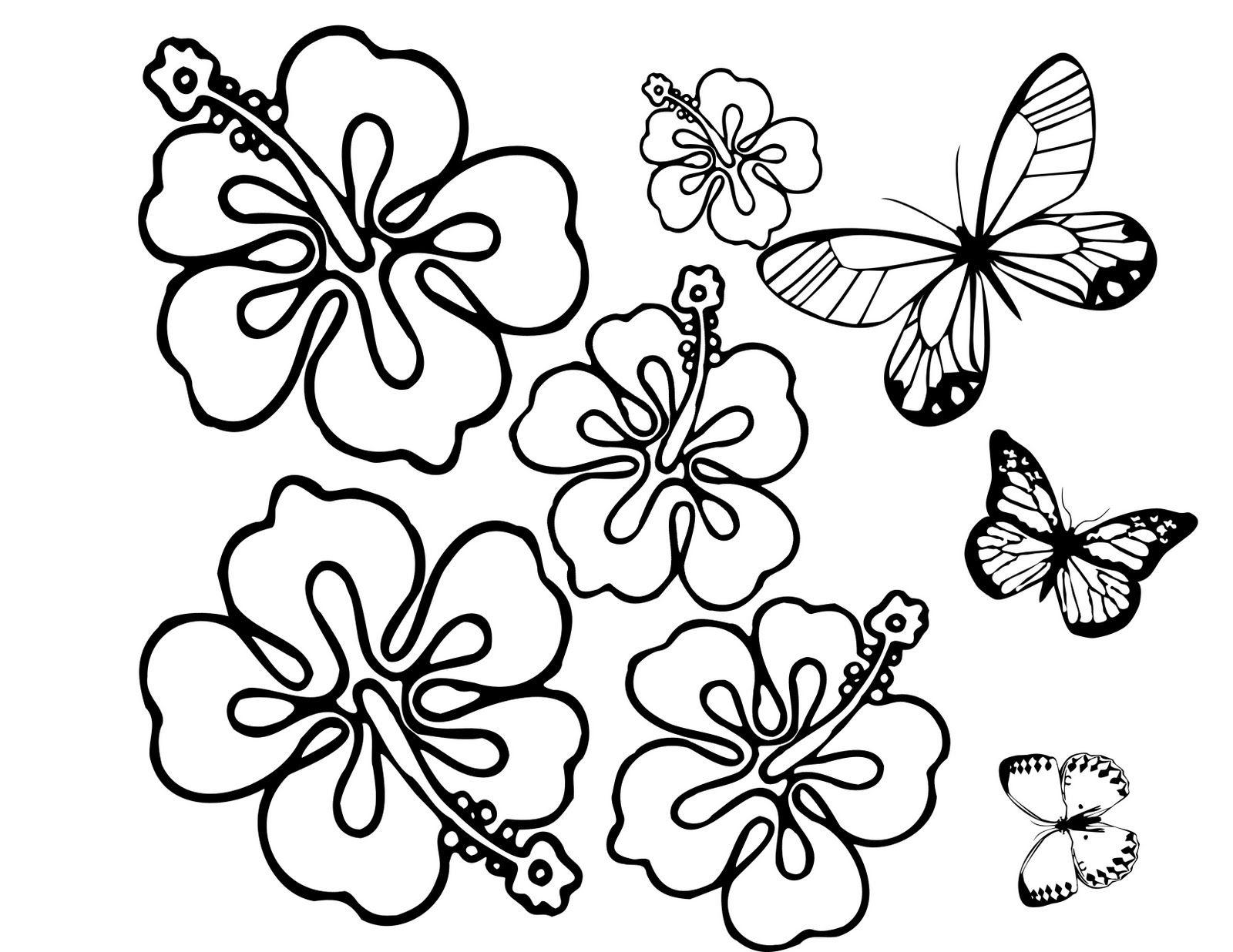 plantillas de flores y mariposas para pintar | DIBUJOS PARA COLOREAR ...