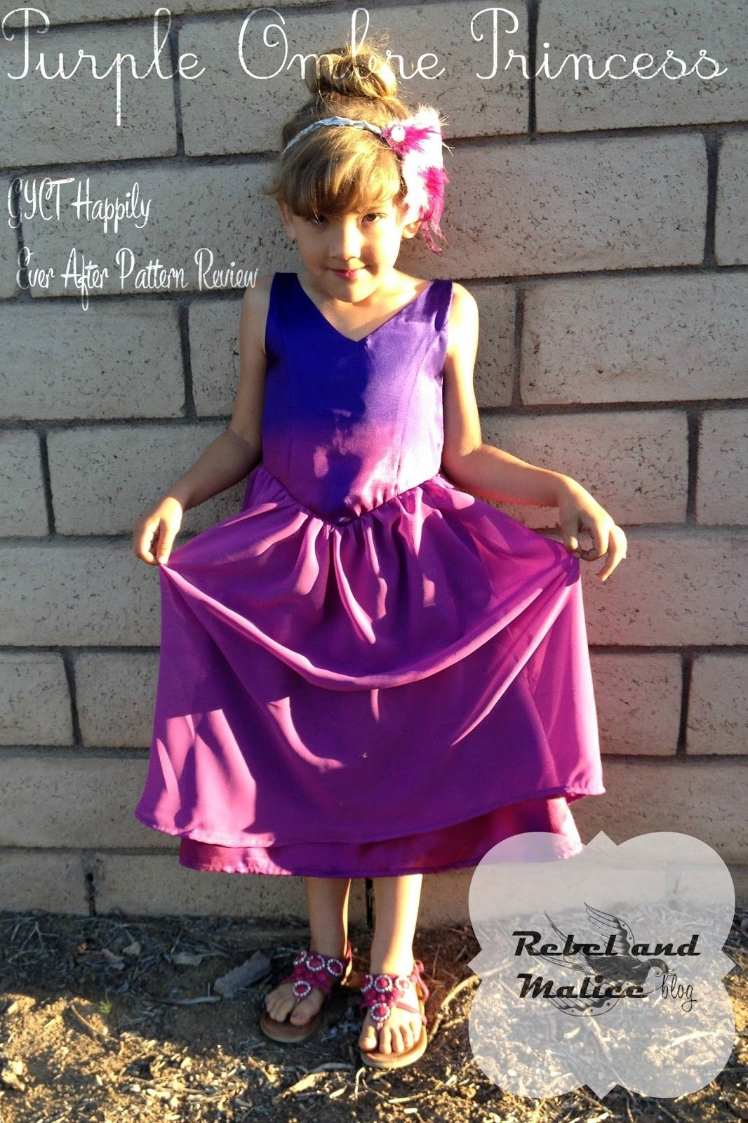Purple Ombre Princess: GYCT Pattern review | Rebel & Malice